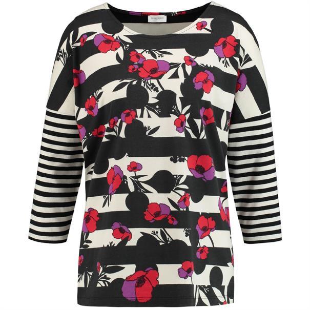 Gerry Weber t-shirt 870222-35032 in het Zwart / Wit