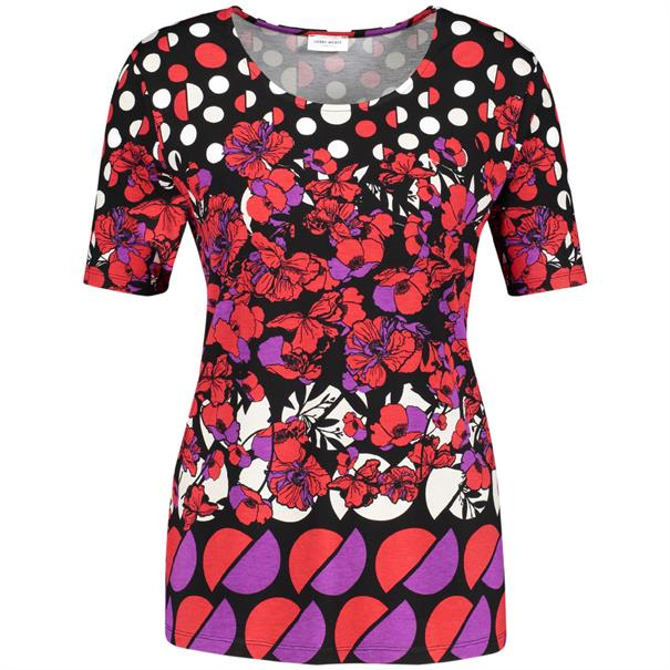 Gerry Weber t-shirt 870231-35039 in het Multicolor
