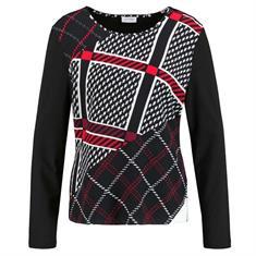 Gerry Weber t-shirts 270249-35050 in het Zwart / Beige