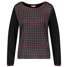 Gerry Weber t-shirts 270250-35051 in het Zwart / Beige