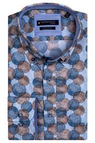 Giordano casual overhemd 117012 in het Bruin