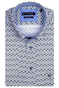 Giordano casual overhemd 117016 in het Marine
