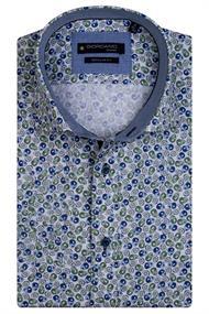 Giordano casual overhemd 117020 in het Groen
