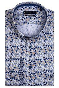 Giordano casual overhemd 117022 in het Geel