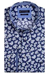 Giordano casual overhemd 117029 in het Groen
