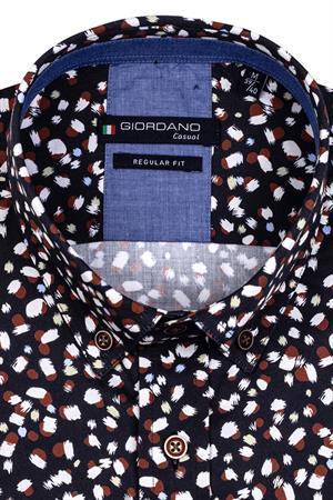 Giordano casual overhemd 127015 in het Zwart