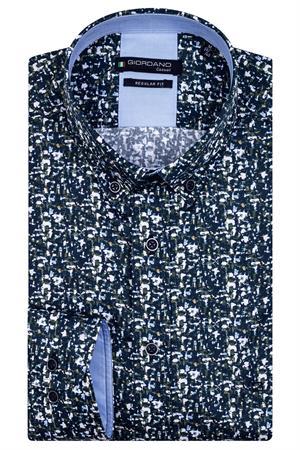 Giordano casual overhemd 127017 in het Groen