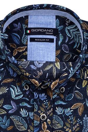 Giordano casual overhemd 127023 in het Marine