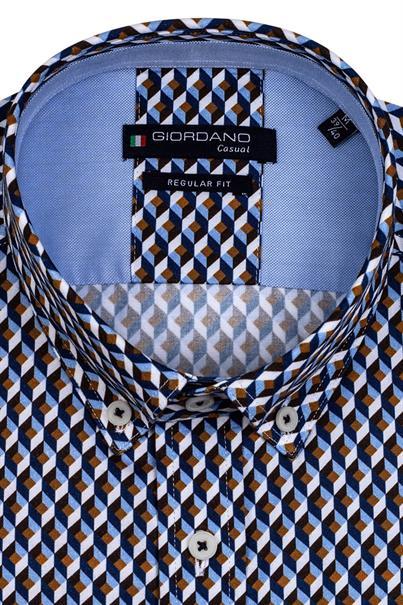 Giordano casual overhemd 127026 in het Marine