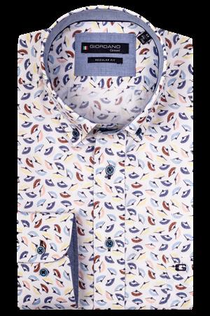 Giordano casual overhemd Regular Fit 107012 in het Groen