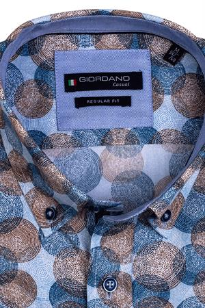 Giordano casual overhemd Regular Fit 117012 in het Bruin