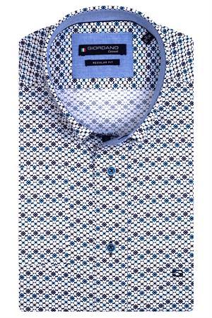 Giordano casual overhemd Regular Fit 117016 in het Marine
