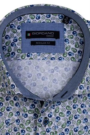 Giordano casual overhemd Regular Fit 117020 in het Groen