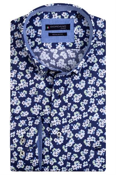 Giordano casual overhemd Regular Fit 117029 in het Groen