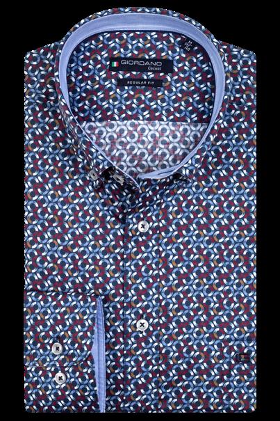 Giordano casual overhemd Regular Fit 207019 in het Bordeaux