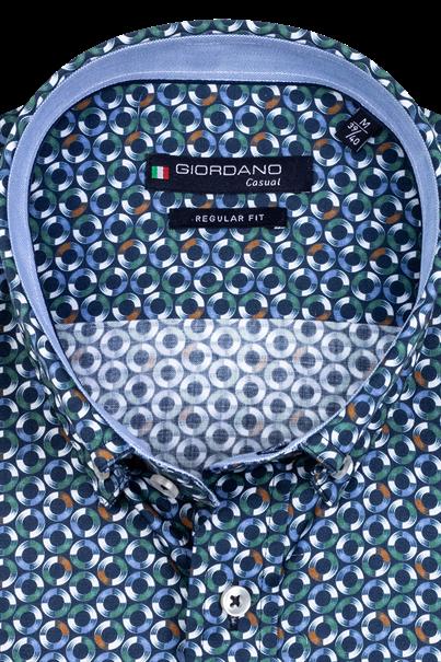 Giordano casual overhemd Regular Fit 207019 in het Groen