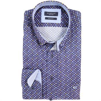 Giordano casual overhemd Regular Fit 827025 in het Blauw
