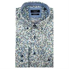 Giordano casual overhemd Regular Fit 91-6016 in het Groen