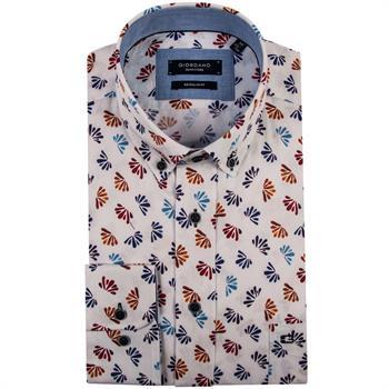 Giordano casual overhemd Regular Fit 91-6024 in het Wit