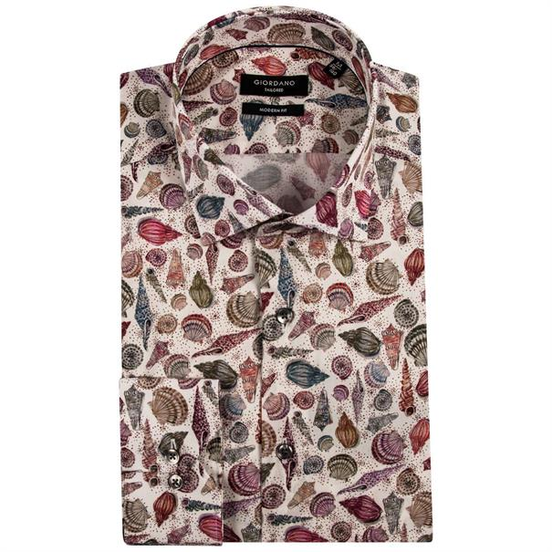 Giordano casual overhemd Regular Fit 91-7802 in het Multicolor