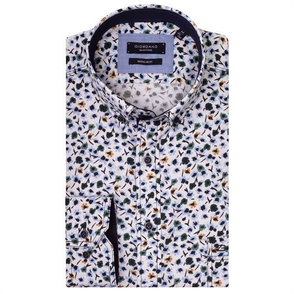 Giordano casual overhemd Regular Fit 927002 in het Groen