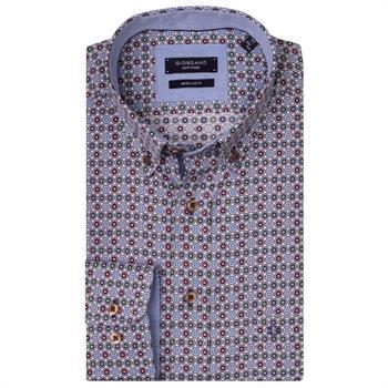 Giordano casual overhemd Regular Fit 927014 in het Groen