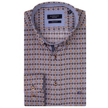 Giordano casual overhemd Regular Fit 927014 in het Oker