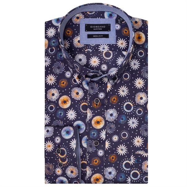 Giordano casual overhemd Regular Fit 927021 in het Blauw
