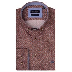 Giordano casual overhemd Regular Fit 927028 in het Camel