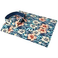 Giordano overhemd Modern Fit 81-7584 in het Aqua
