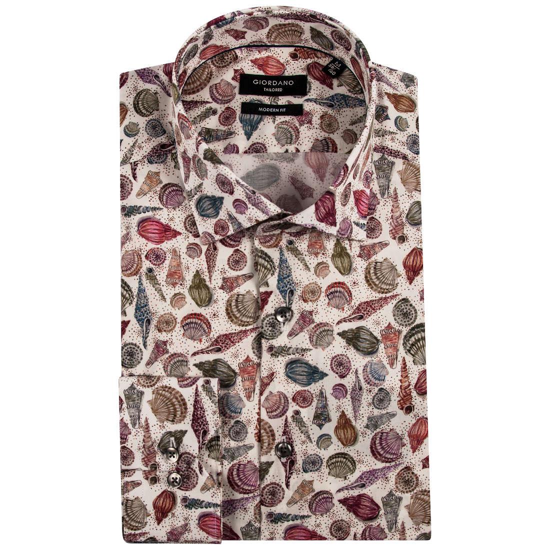Giordano overhemd Modern Fit 91-7802 in het Multicolor