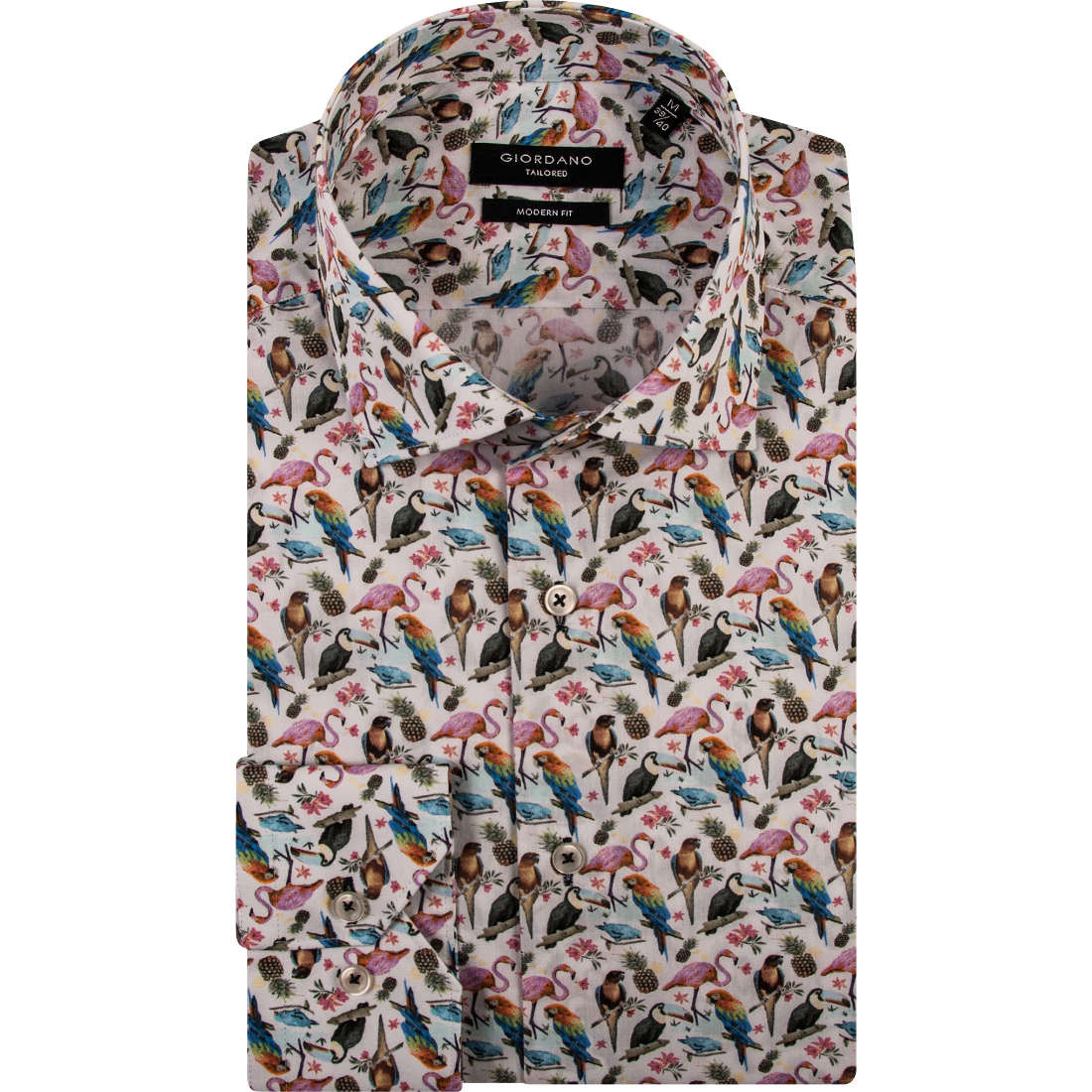 Giordano overhemd Modern Fit 91-7815 in het Multicolor