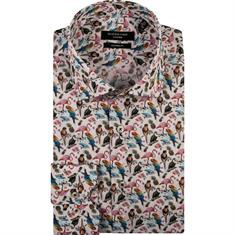 Giordano overhemd Modern Fit 91-7815 in het Multicolor