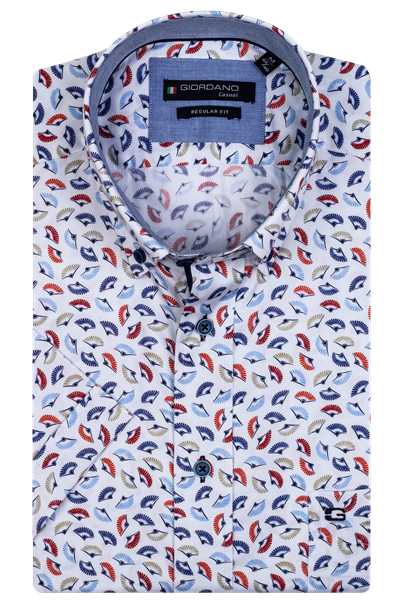 Giordano overhemd Regular Fit 106012 in het Koraal
