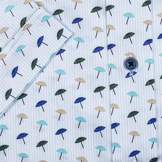 Giordano overhemd Regular Fit 106031 in het Aqua