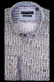 Giordano overhemd Regular Fit 107014 in het Licht Geel