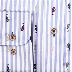 Giordano overhemd Regular Fit 107101 in het Licht Blauw