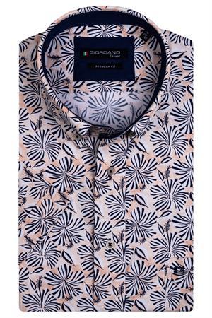 Giordano overhemd Regular Fit 116013 in het Oranje