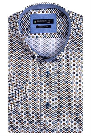 Giordano overhemd Regular Fit 116016 in het Geel