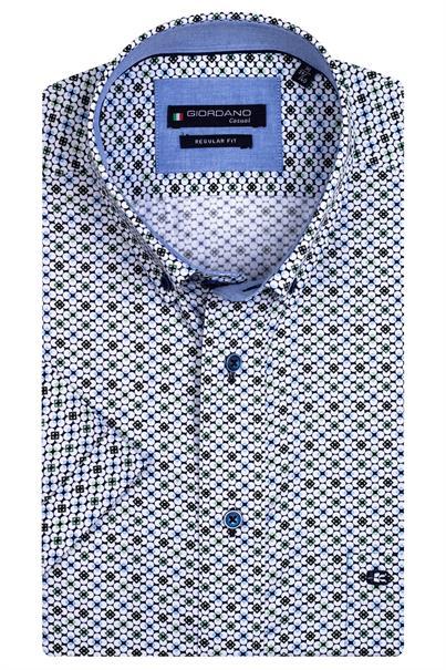 Giordano overhemd Regular Fit 116016 in het Groen