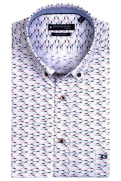Giordano overhemd Regular Fit 116026 in het Roze