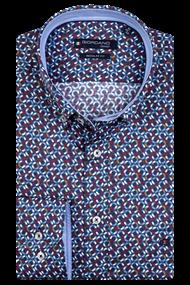 Giordano overhemd Regular Fit 207019 in het Bordeaux