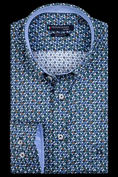 Giordano overhemd Regular Fit 207019 in het Groen