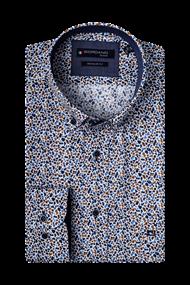 Giordano overhemd Regular Fit 207020 in het Wit/Blauw