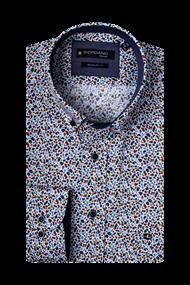 Giordano overhemd Regular Fit 207020 in het Wit/Groen