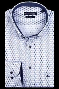 Giordano overhemd Regular Fit 207039 in het Wit/Blauw