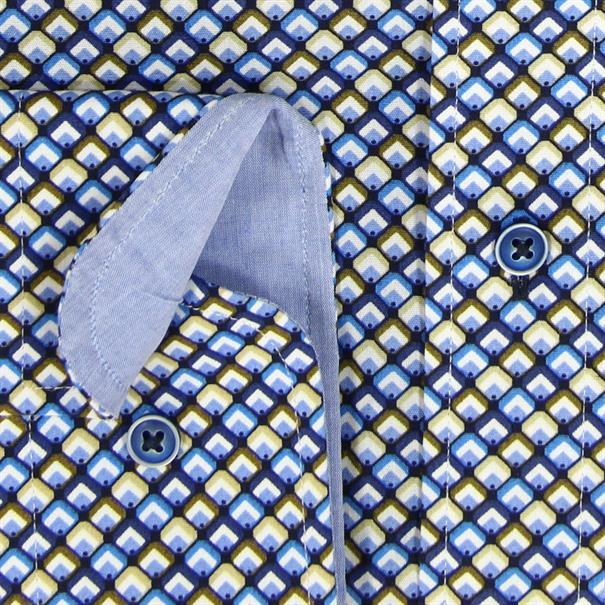 Giordano overhemd Regular Fit 81-7032 in het Blauw