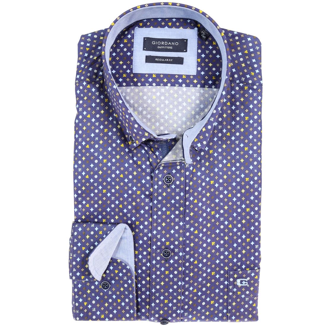 Giordano overhemd Regular Fit 827025 in het Blauw