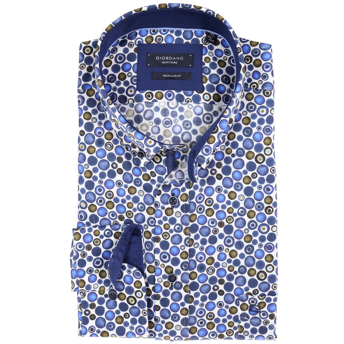 Giordano overhemd Regular Fit 827031 in het Blauw