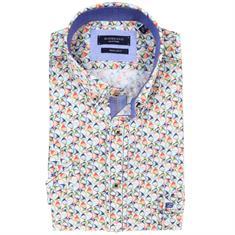 Giordano overhemd Regular Fit 91-6022 in het Aqua